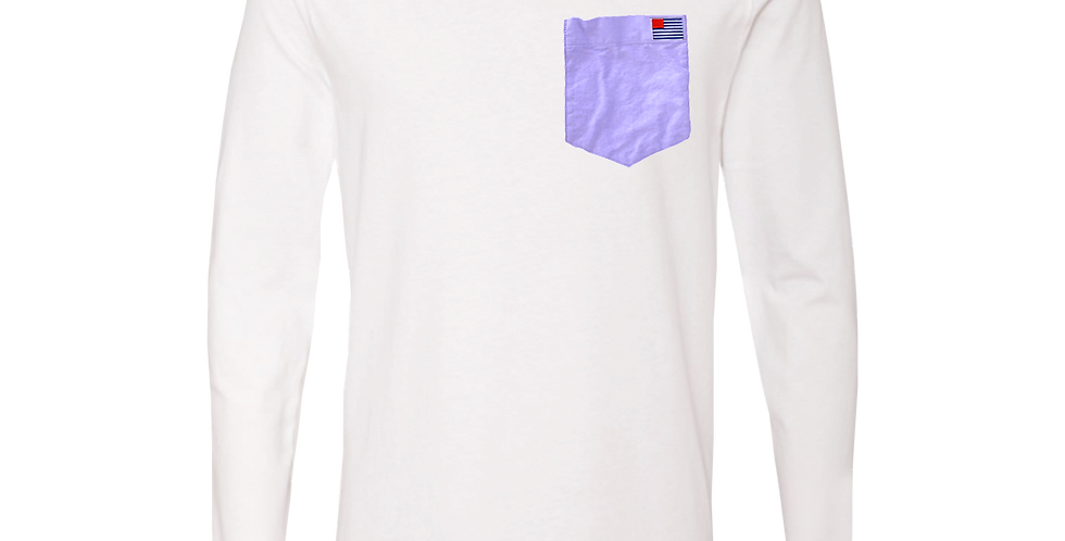 Purple Oxford Pocket w/small American Oxford Flag