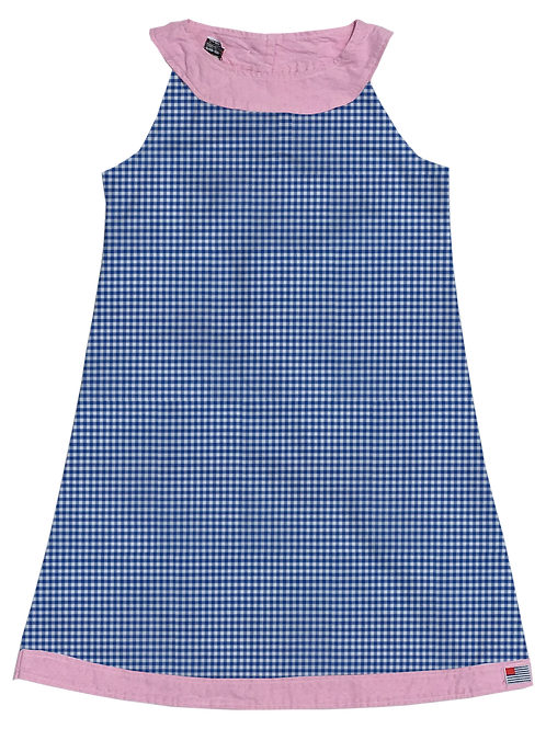 A-Line Shift Dress - Royal Gingham