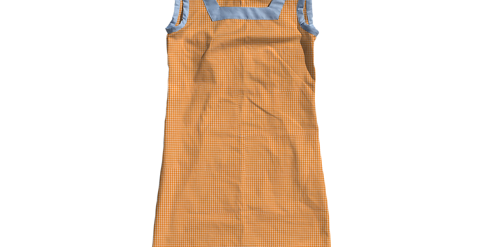 The Shift Dress - Orange Gingham