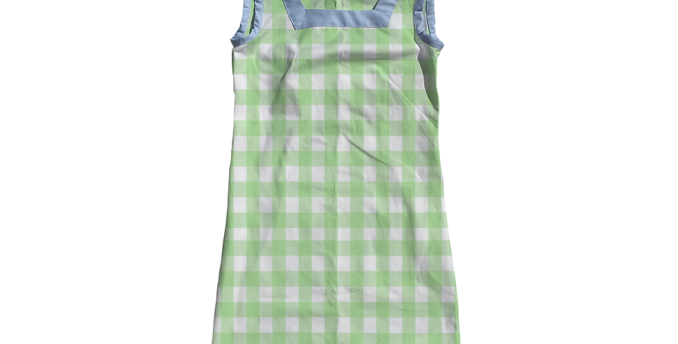 The Shift Dress - Mint Gingham