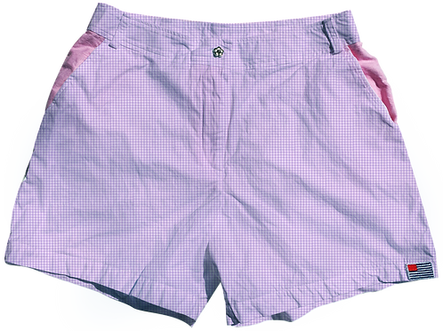 The Lake Short Small Lavendar Gingham