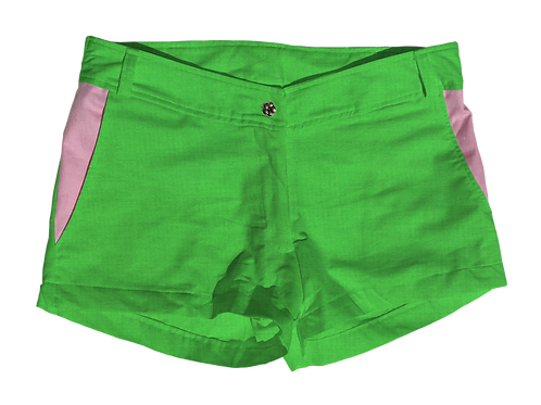 The Boat Short Cotton Solid Kiwi