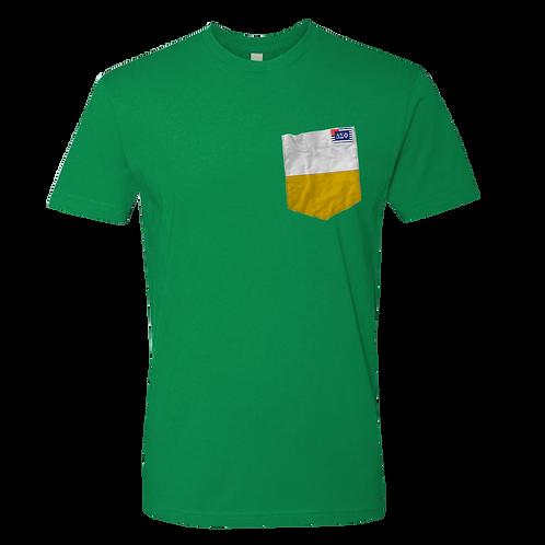 Green Crew Neck Short Sleeve T-Shirt