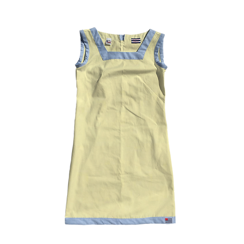 The Shift Dress - Yellow Oxford