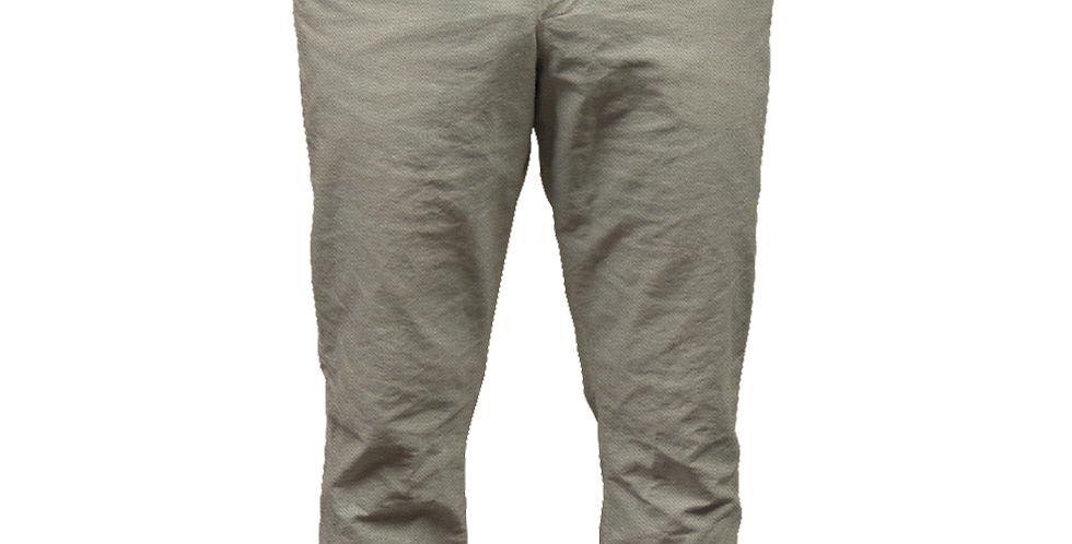 Khaki Twill Pant with Periwinkle Gingham