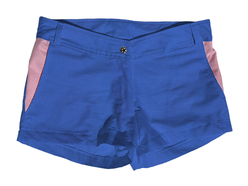 The Boat Short Solid Cotton Lapis