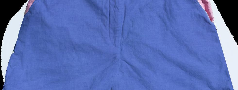 The Lake Short Solid Cotton Lapis