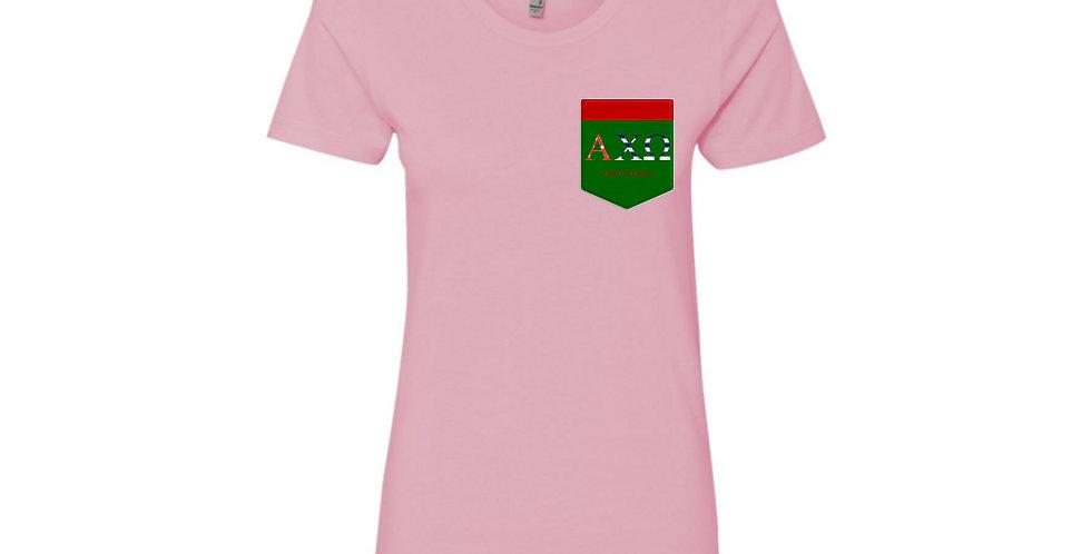 AXO: Alpha Chi Omega green pocket