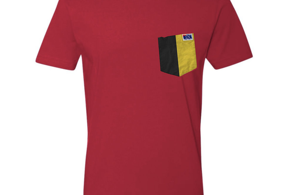 Red Crew Neck Short Sleeve T-Shirt