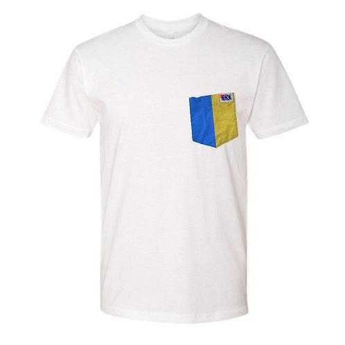Sig Chi White T-Shirt: Sigma Chi Vertical