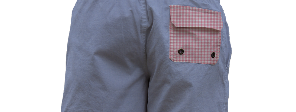 Pink gingham pocket