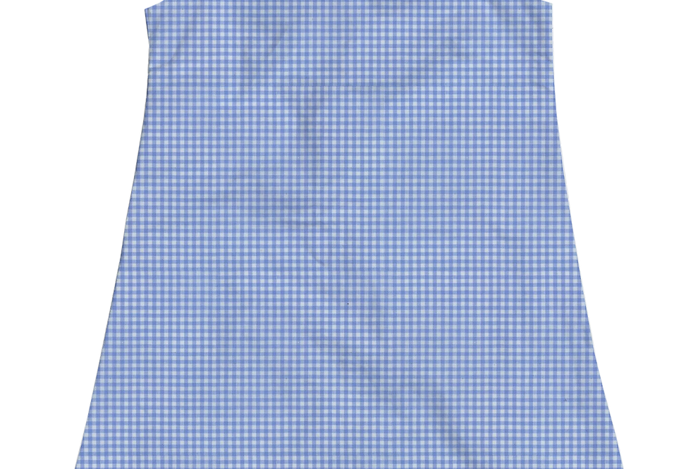 A-Line Shift Dress - Periwinkle Gingham