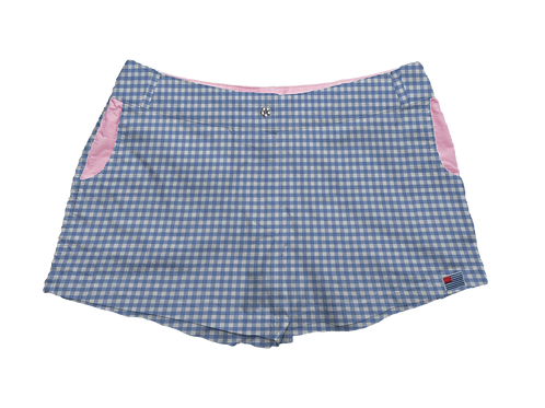 """Solid 1/4"""" Periwinkle Gingham"""