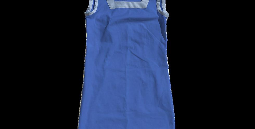The Shift Dress - Cotton Lapis