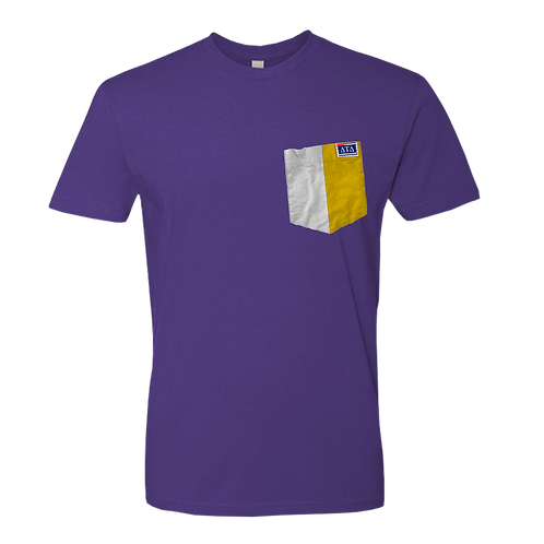 Purple Crew Neck Short Sleeve T-Shirt