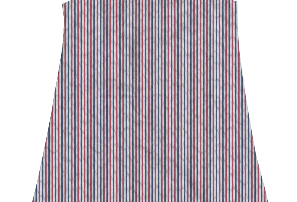 A-Line Shift Dress- Celebration Seersucker