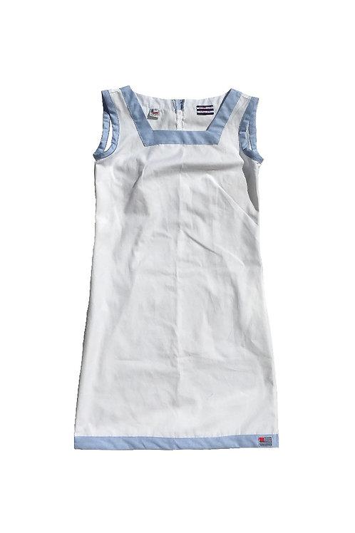 The Shift Dress - White Oxford