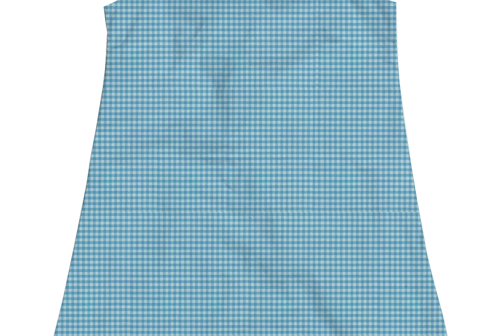A-Line Shift Dress - Pond Gingham