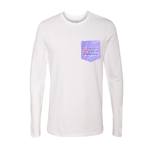 American Oxford silkscreened on Purple Pocket