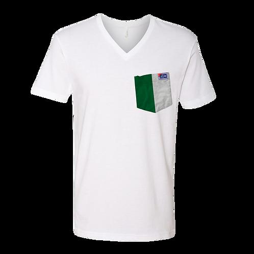 White V-Neck Short Sleeve T-Shirt