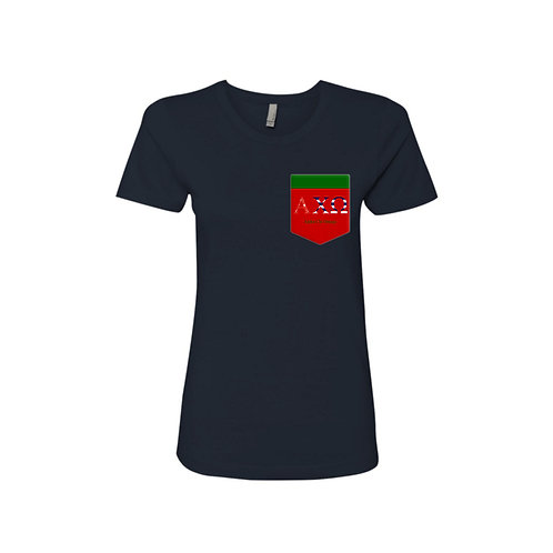 AXO: Alpha Chi Omega red pocket
