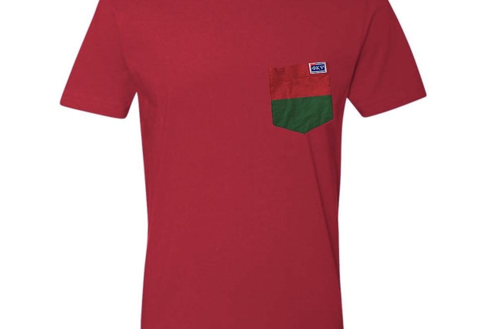 Red Crew Neck Short Sleeve T-Shirt