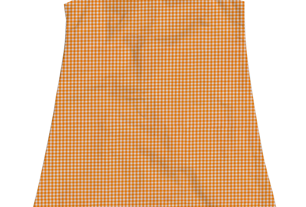 A-Line Shift Dress - Orange Gingham