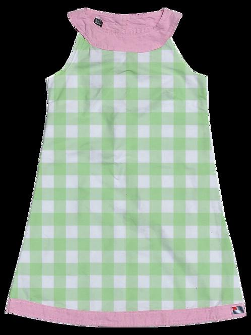 A-Line Shift Dress - Mint Gingham