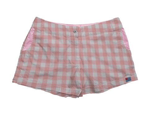"""Solid 1"""" Pink Gingham"""