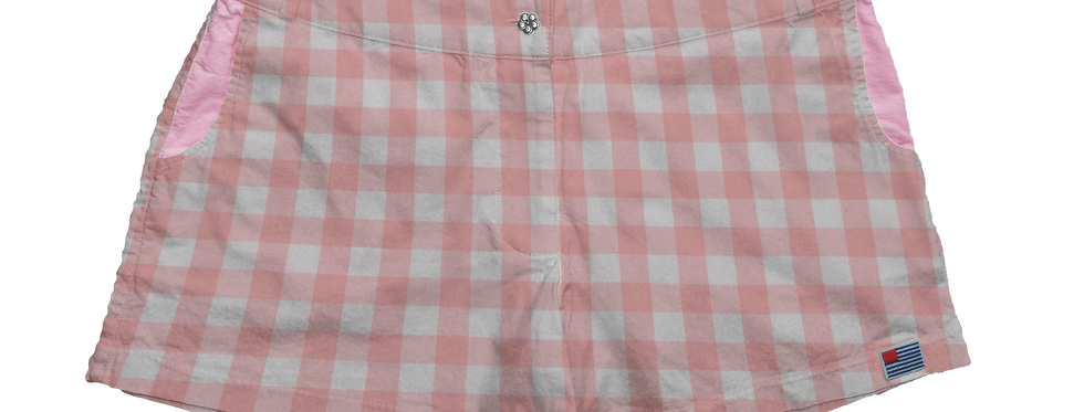 "Solid 1"" Pink Gingham"