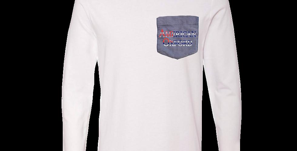 Long Sleeve T: American Oxford Silkscreened logo