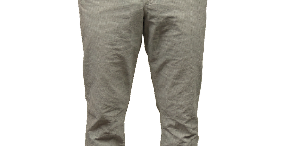 Khaki Twill Pant with Blue Oxford