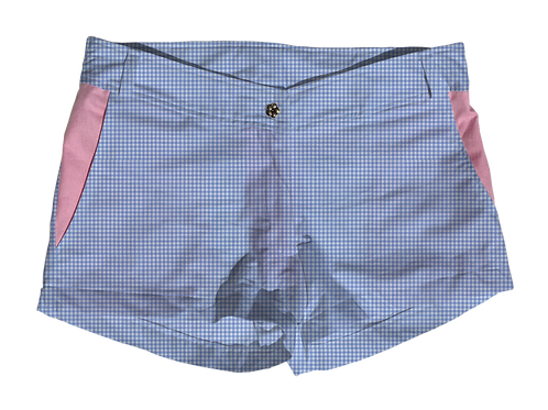 The Boat Short Small Periwinkle Gingham