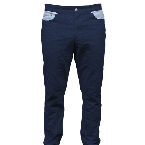 Navy Twill Pant with Blue Oxford