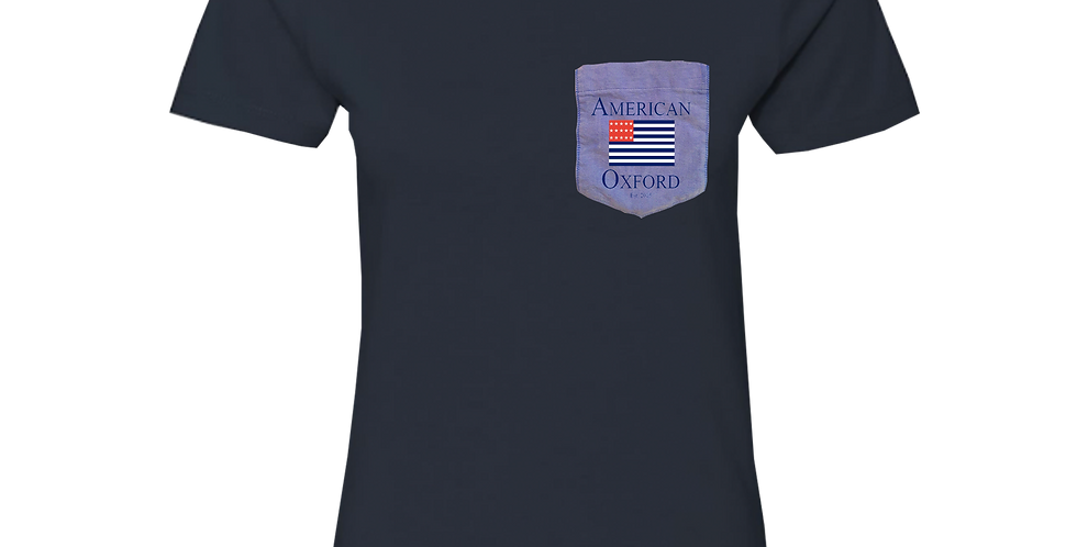 Navy t-shirt: Signature American Oxford Blue Pocket