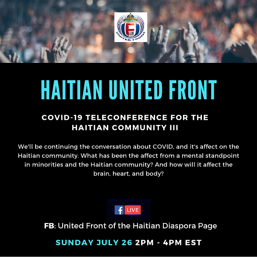 Covid-19 teleconference for the Haitian Community III