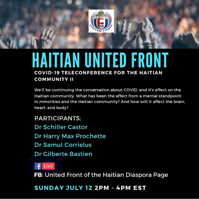 Covid-19 teleconference for the Haitian Community II