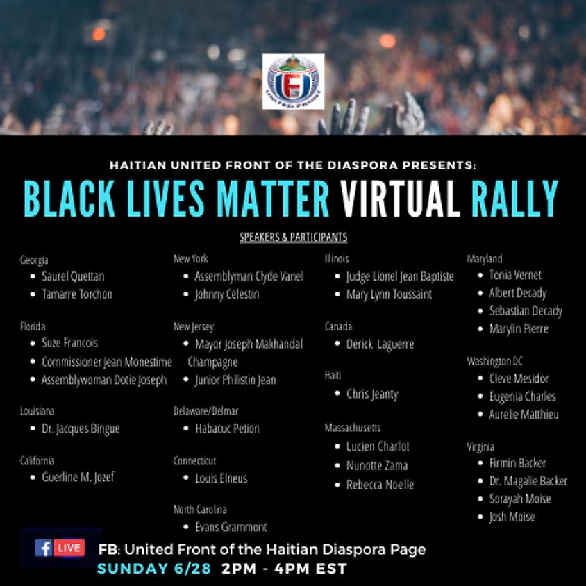 Black Lives Matter Virtual Rally