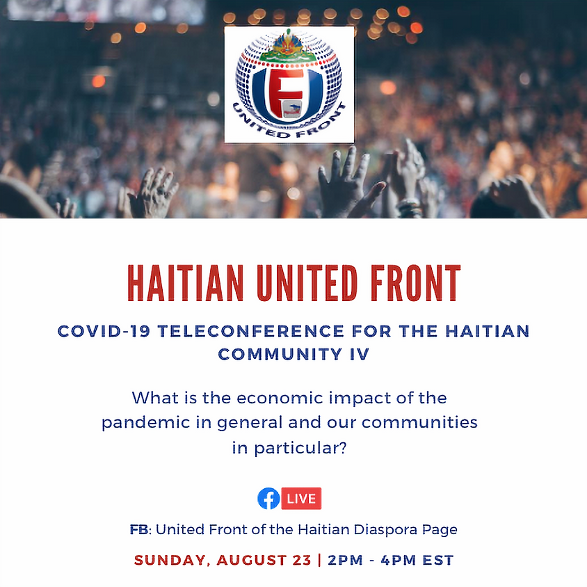 Covid-19 teleconference for the Haitian Community IV