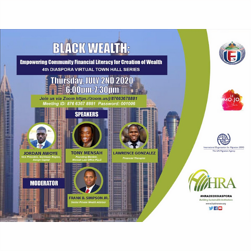 Black Wealth - Empowering Community Financial Literacy for Creation of Wealth