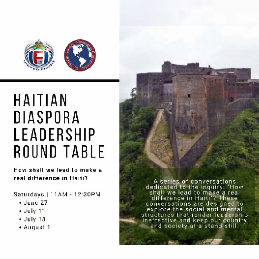 HAITIAN DIASPORA LEADERSHIP ROUND TABLE