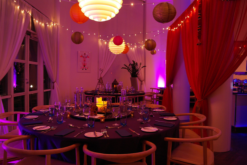 Indian themed event at the Moller Centre in Cambridge