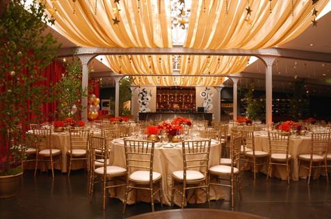Gold themed dinner at The Bluebird Restaurant, Chelsea