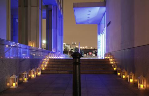 External lighting at the Design Musem, Shad Thames