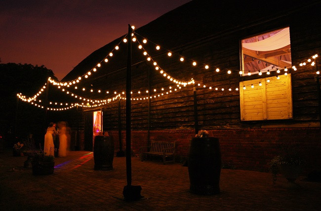 Festoon canopy at Lillibrooke Manor in Maidenhead