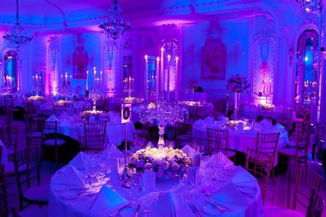 Crystal candelabra at The Savoy, London