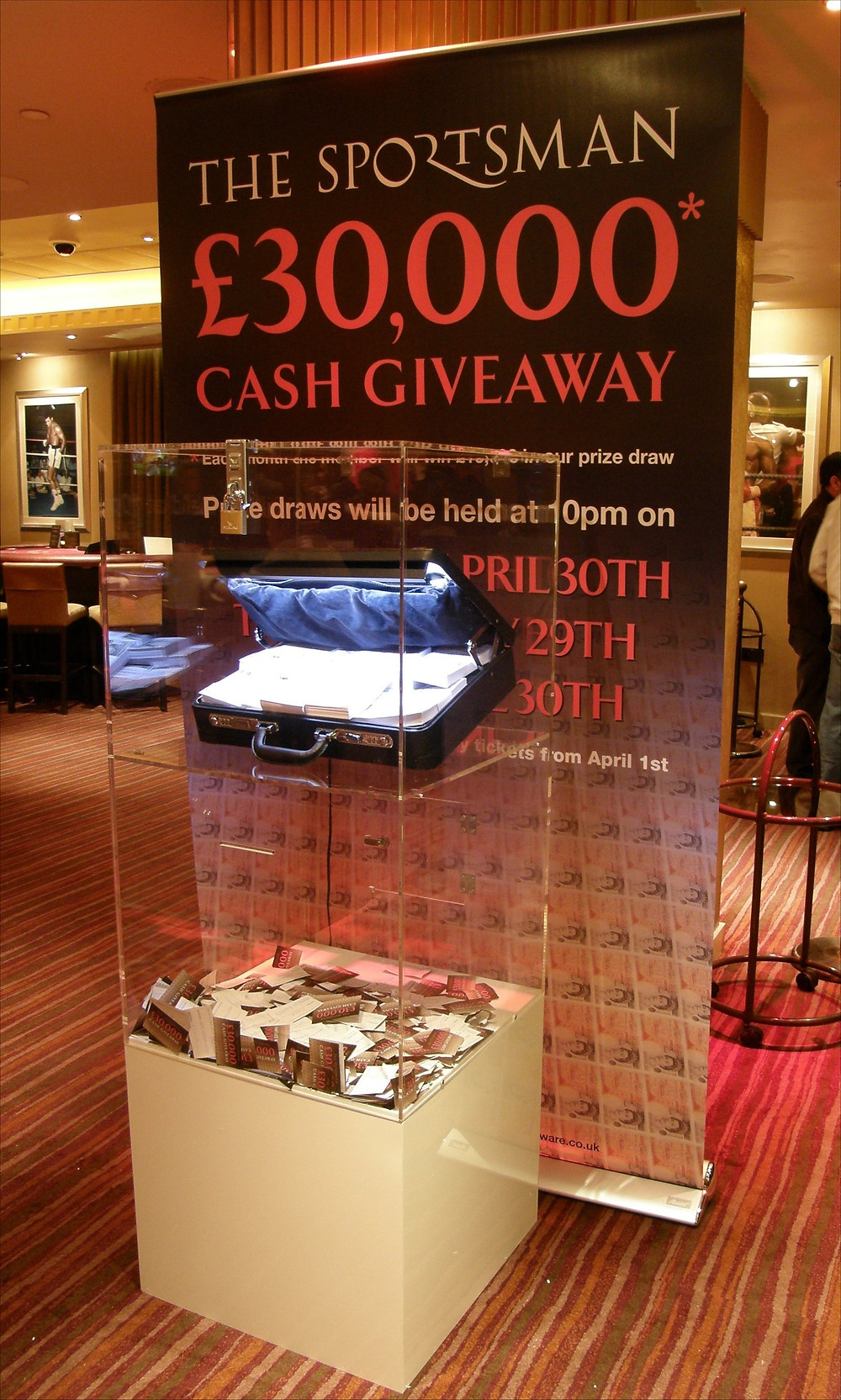 Display piece for a promotional event at the Sportsman Casino for London Clubs International