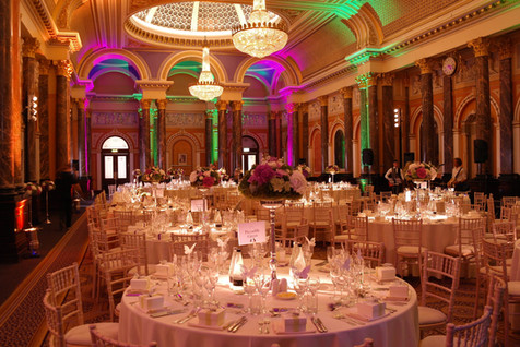 Charity dinner at historic Gibson Hall, London
