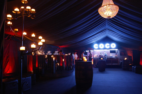 A launch events for a catering company at their own premises