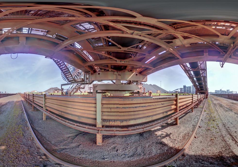 Binnenschiffverlader - Detailaufmass von Fernsteuerungssensoren